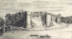 1741 print of the castle by S & N Buck (Glen Johnson Collection)