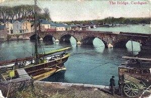Cardigan Bridge circa1905 from Postcard (Glen Johnson Collection)