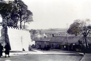 West wall and Bridge Street, circa 1932 (Glen Johnson Collection)