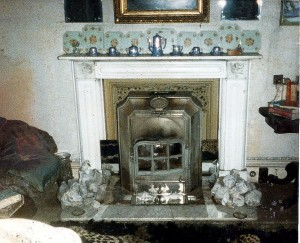 Drawing Room fireplace in August 1986 (c) A W J Greenland