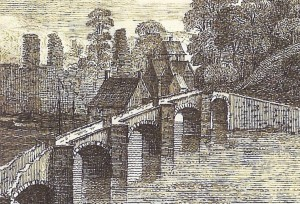Cardigan Bridge in 1741 (Glen Johnson Collection)