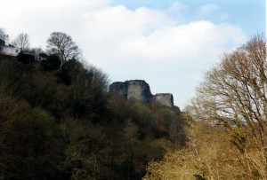 Cilgerran Castle from the gorge in April 2000 (c) Glen K Johnson