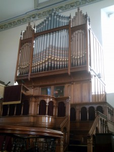 October 2010 - Pulpit and organ, Bethania (c) Glen K Johnson