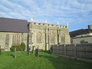 The chancel dates from about 1400 and is a remarkable piece of architecture for the period in west Wales