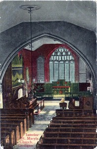 ca1910 - J Clougher & Son Poscard view of the church interior before restoration (Glen Johnson Collection)