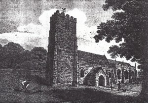 The church in 1808 (Glen Johnson Collection)