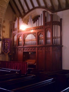 Church organ in August 2010 (c) Glen K Johnson