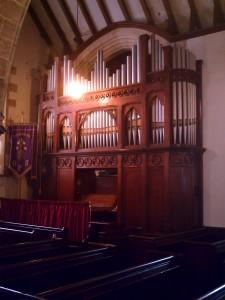 Church organ in August 2010 (c) Glen K Johnson