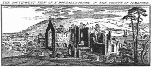 St. Dogmaels Abbey by Samuel & Nathaniel Buck, 1740