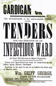 Seeking Tenders for a new Ward, Workhouse, 26/02/1885 (Glen Johnson Collection)