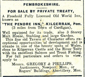 Sale Avertisement - Pendre, Cilgerran, 11/07/1930 (Cardigan & Tivy-Side Advertiser)