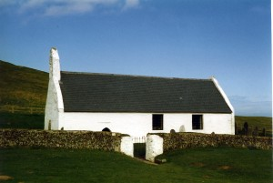 Mwnt Church in April 1999 (c) Glen K Johnson