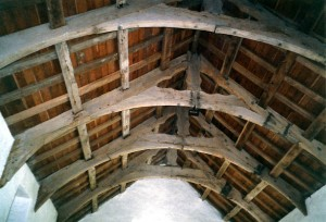 The roof trusses in April 2002 (c) Glen K Johnson