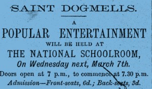 Notice of Entertainment at the National School, March 1877 (Glen Johnson Collection)
