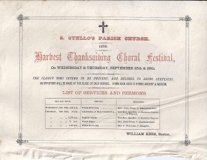 St. Cynllo's Church Festival Poster from September 1878 (Glen Johnson Collection)