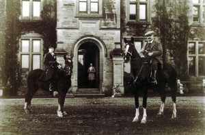 Rita and C E D Morgan-Richardson at Rhosygilwen, circa 1910 (Glen Johnson Collection)
