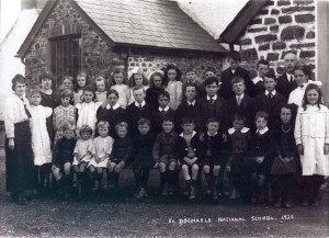St. Dogmaels National School in 1920 (Glen Johnson Collection)
