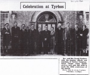 Celebration at Tyrhos 30/09/1960 (Cardigan & Tivy-Side Advertiser)
