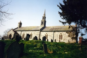 St. Cynllo's Church in March 2000 (c) Glen K Johnson