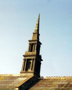 The spire in March 2000 (c) Glen K Johnson
