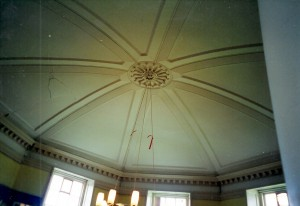Stucco dome ceiling of 1764, The Shire Hall, May 2001 (c) Glen K Johnson