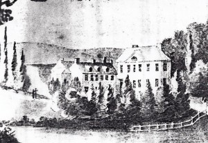 Plas Llangoedmor in about 1801, drawn by Sarah Millingchamp. (Glen Johnson Collection)