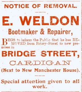 Advertisement for E Wildon, No. 7 Bridge Street, 03/05/1912 (Glen Johnson Collection)