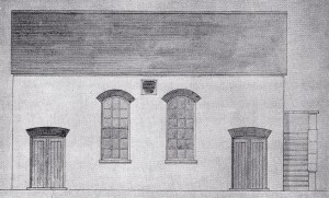 The first Baptist Chapel, Cilgerran, circa 1820 (Glen Johnson Collection)