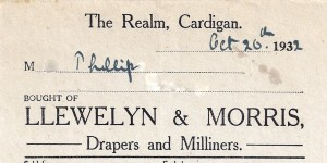 20/10/1932 - Bill-head for Llewelyn & Morris, New Manchester House (Glen Johnson Collection)