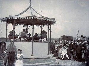 Opening of the bandstand in 1898. Photo by S. J. Owen (Glen Johnson Collection)
