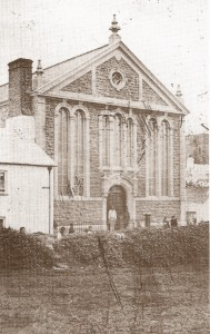 Opening the new Capel Mair in 1870 (Glen Johnson Collection)