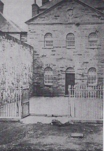 The entrance to Cardigan Gaol, 1860's (Glen Johnson Collection)