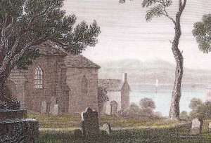 Part of the church in 1795 (Glen Johnson Collection)