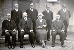 Capel Seion Deacons and Secretary, 1935 (Glen Johnson Collection)