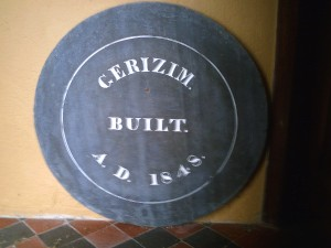 Plaque of original Gerazim Chapel, September 2010 (c) Glen K Johnson