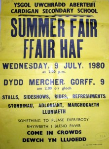 Poster for School Summer Fair, 09/07/1980 (Glen Johnson Collection)