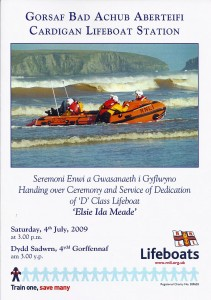 Cover of Programme for new boat launch, 04/07/2009 (Glen Johnson Collection)