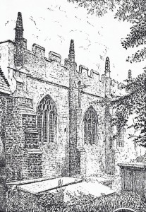 Chancel of St. Mary's Church, 1903 (E Horsfall Turner)