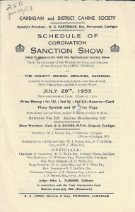 Cover of Coronation Sanction Show Programme, 29/07/1953 (Glen Johnson Collection)