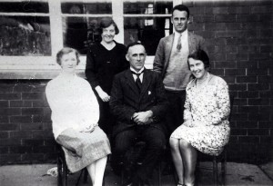Headmaster G D Gwynne and Board School staff, circa 1930 (Glen Johnson Collection)
