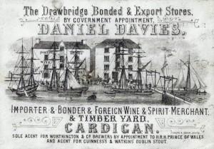 Mwldan Buildings and Drawbridge Stores, circa 1879 (Glen Johnson Collection)