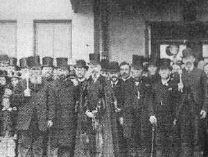 Mayor Thomas Davies opening Cardigan Railway Station, 1886 (Glen Johnson Collection)