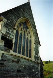East window in May 2000 (c) Glen K Johnson
