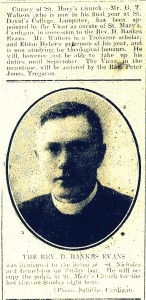 The new Curate in March 1914 (Cardigan & Tivy-Side Advertiser)
