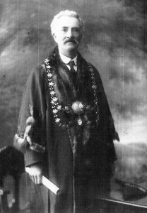 Ivor Evans, Mayor of Cardigan, 1911 (Glen Johnson Collection)