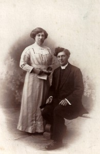 Rev. John Price and his wife. circa 1911 (Glen Johnson Collection)