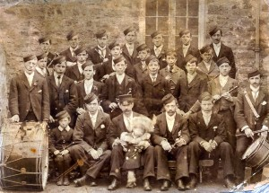 Drum & Fife Band, St. Dogmaels Board School, 1880 (Glen Johnson Collection)