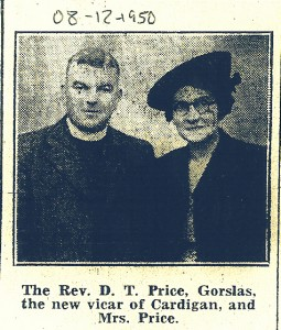 Rev. & Mrs. D T Price, 08/12/1950 (Cardigan & Tivy-Side Advertiser)