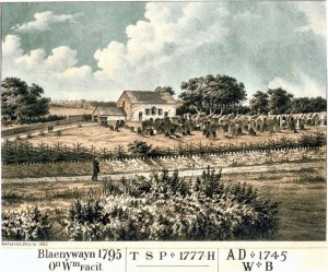 Old Blaenywaun, built 1795, as it appeared in 1885 (Glen Johnson Collection)