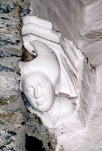 Chancel corbel of ca. 1400 in September 2009 (c) Cath Lloyd